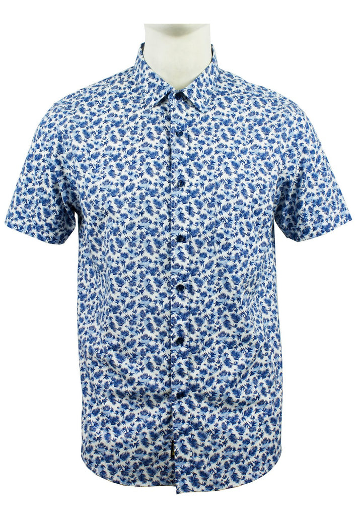Men's Printed Short Sleeve Shirt 883 - Exhaust Garment