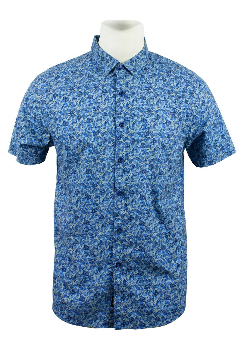 Men's Printed Short Sleeve Shirt 884 - Exhaust Garment