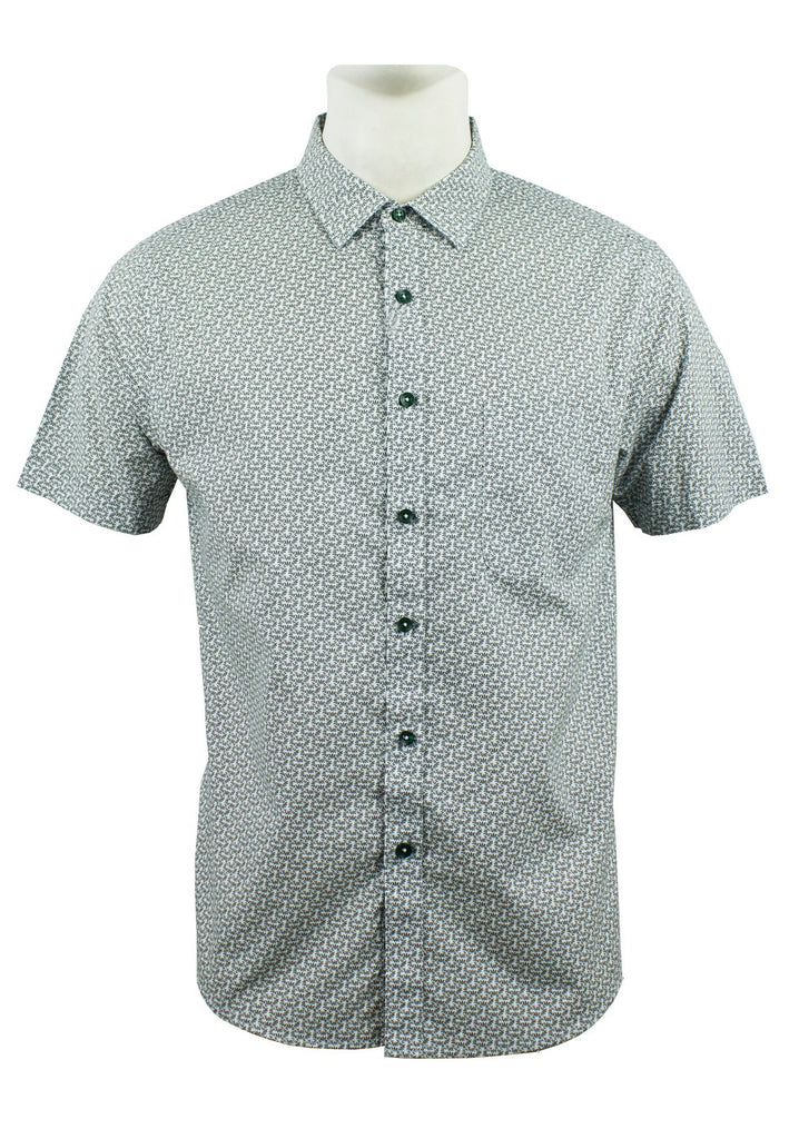 Men's Printed Short Sleeve Shirt 885 - Exhaust Garment