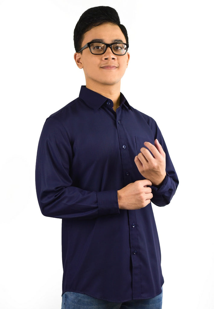Plain Long Sleeve Shirt with Embroidery 709 - Exhaust Garment