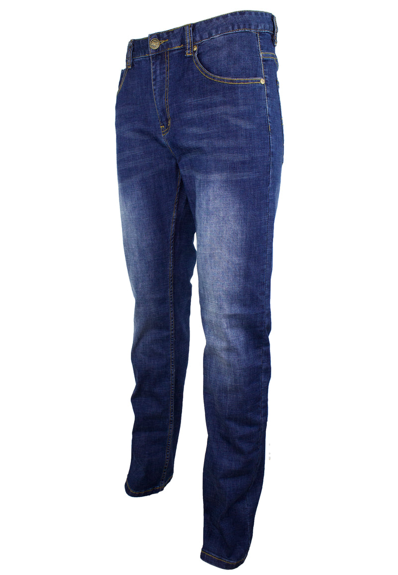 Stretchable Denim Long Pants Straight Cut 910 - Exhaust Garment
