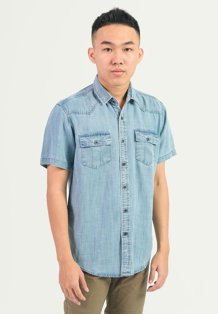 Fashion Denim Short Sleeves 498 - Exhaust Garment