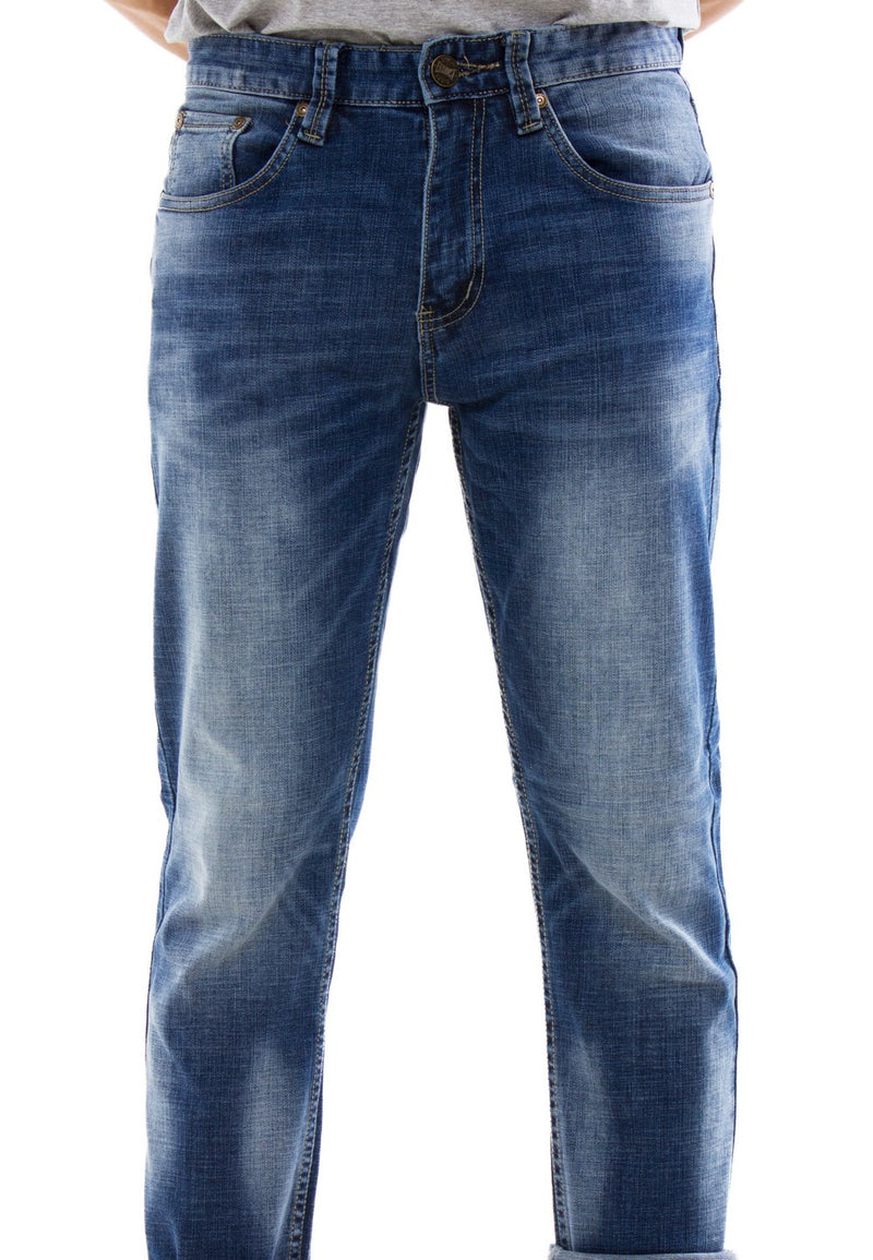 Stretchable Slim Fit Denim Long Pants - Exhaust Garment
