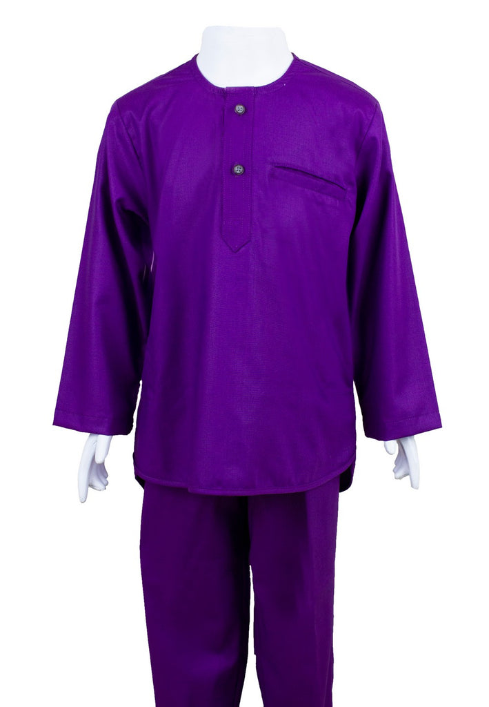 Baju Melayu Modern Fashion (Kids 9-14) Purple Series-88626NSL - Exhaust Garment