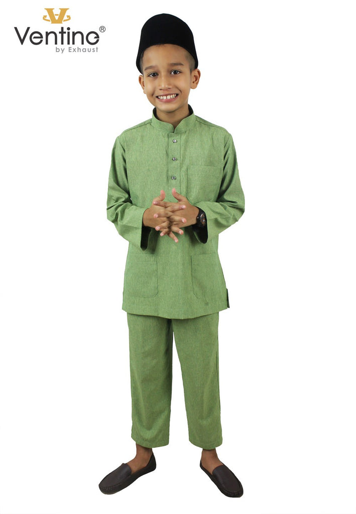 Ventine Baju Melayu V2200-BMM(S) With Collar - Color 6 - 10 - Exhaust Garment