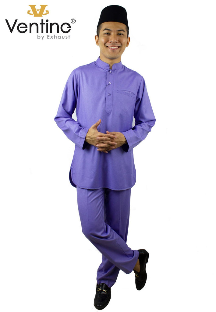 Ventine Baju Melayu Modern V4500-BMMFC(S) With Collar - Color 5-8 - Exhaust Garment