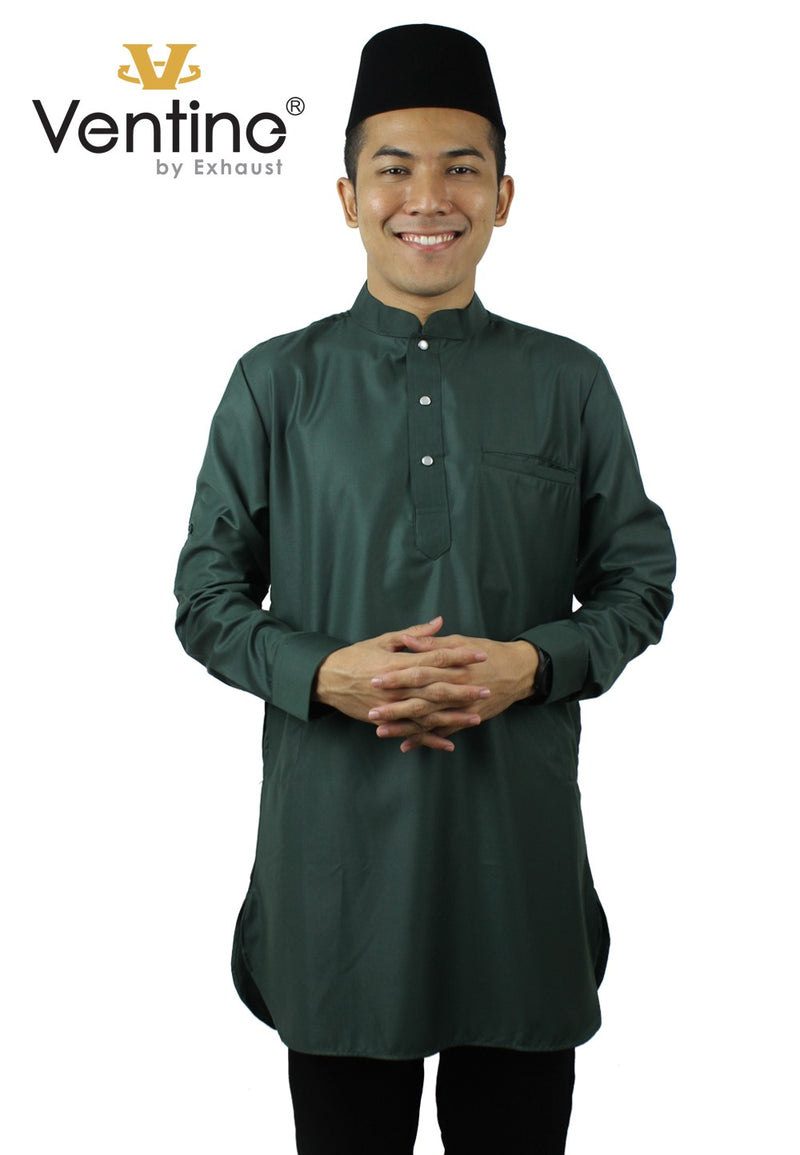 Ventine Baju KurtA (M)-V5000-BKMA With Collar - Exhaust Garment