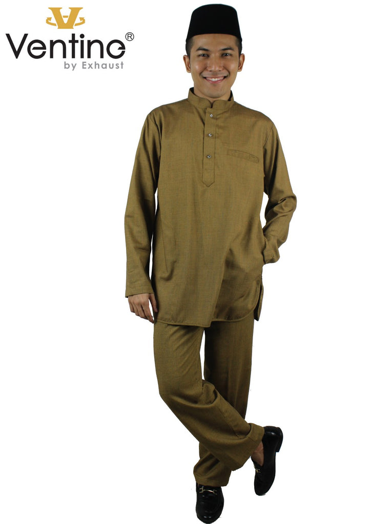 Ventine Baju Melayu V8136-BMMFC(S) With Collar- Adult and Children - Exhaust Garment