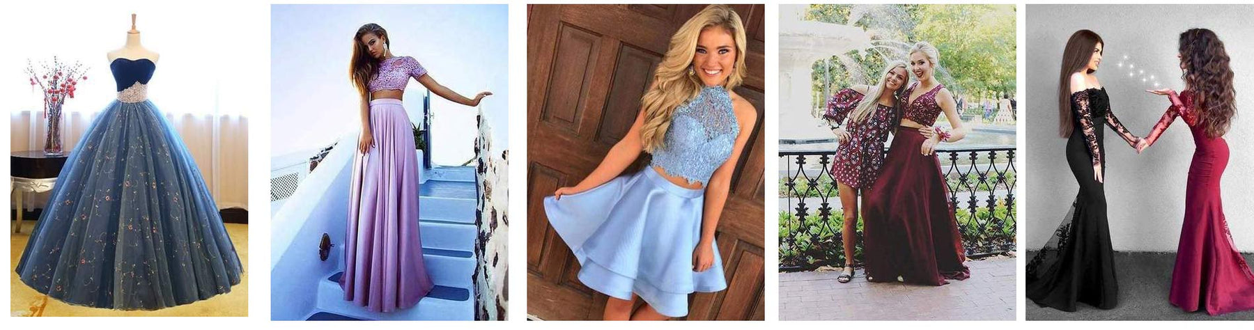Six Popular Lace Prom Dresses for Christmas Party with Affordable Price