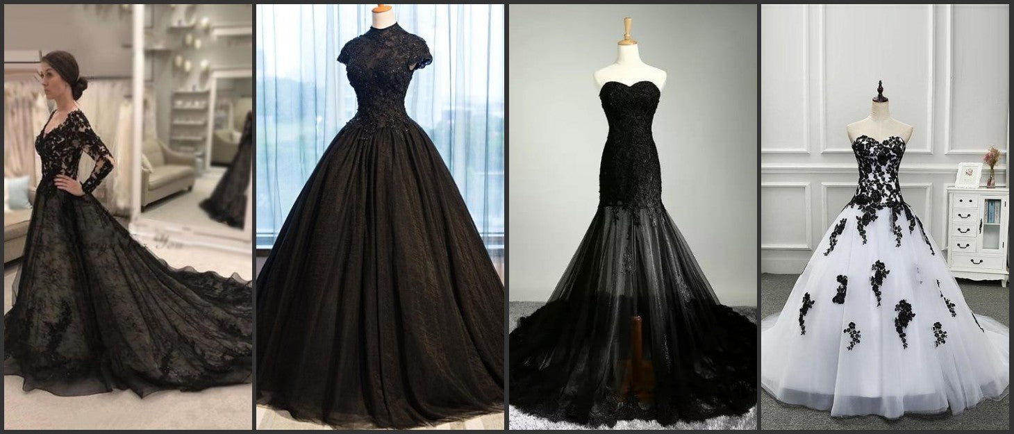 Bridelily Released A Great Range Of Black Wedding Dresses