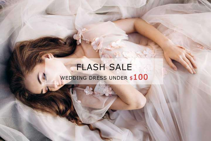 cheap wedding dresses under 100 online - Bridelily.com