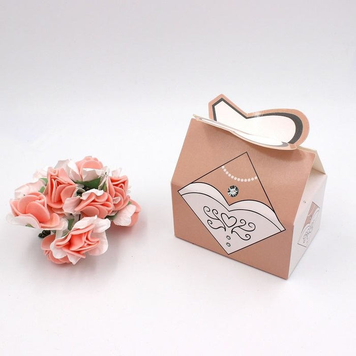 100Pcs Wedding Clothes Candy Box Favor Holders | Bridelily - 75x40x85mm / 100pcs - favor holders
