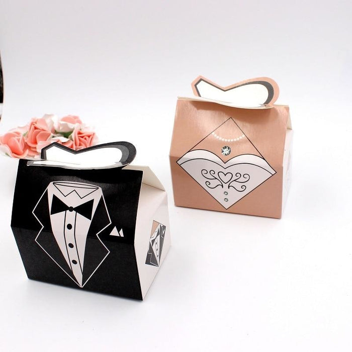 100Pcs Wedding Clothes Candy Box Favor Holders | Bridelily - favor holders