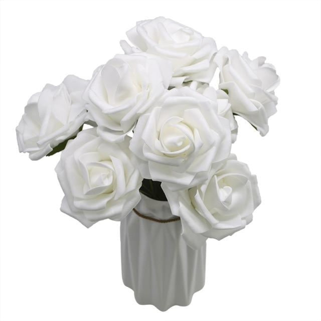 10Heads 8CM Home Decorative Wedding Decorations | Bridelily - white - wedding decorations