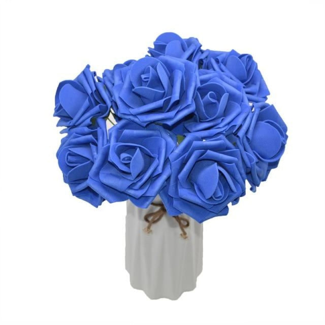 10Heads 8CM Home Decorative Wedding Decorations | Bridelily - royal blue - wedding decorations