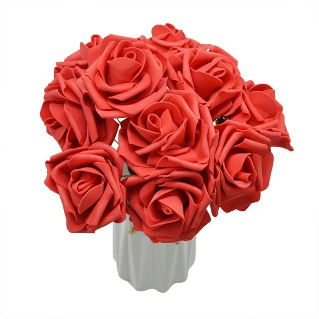 10Heads 8CM Home Decorative Wedding Decorations | Bridelily - red - wedding decorations
