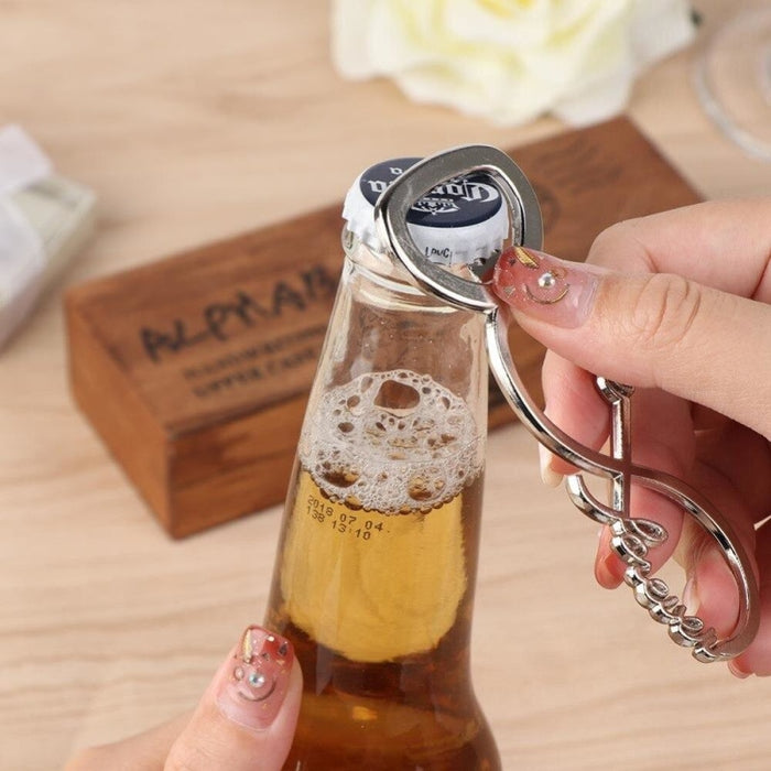 10Pcs Personalized Love Stainless Steel Bottle Favors | Bridelily - bottle favors