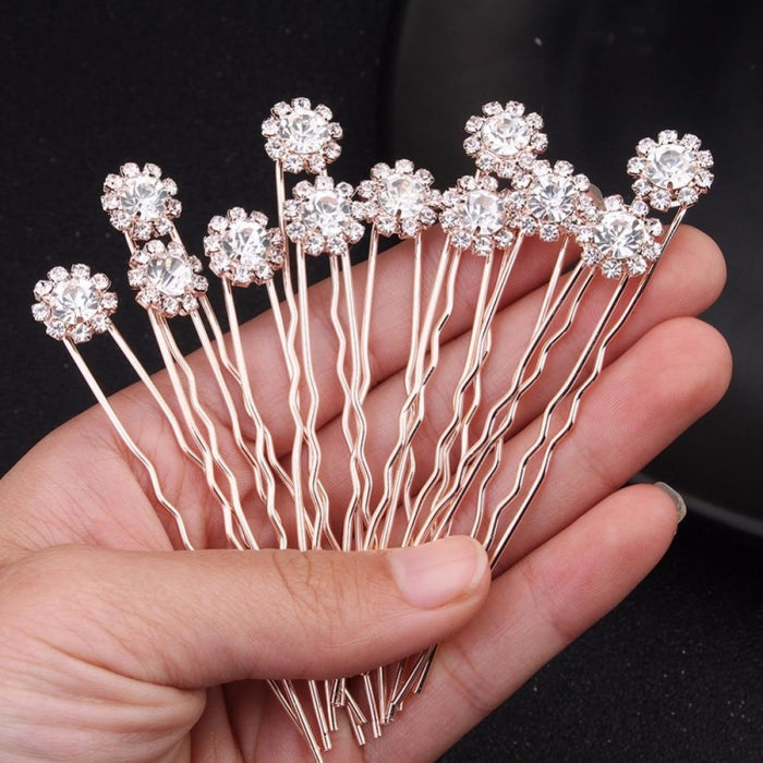 12 24 36 pcs/lot Newest Sunflower Hairpins | Bridelily - hairpins