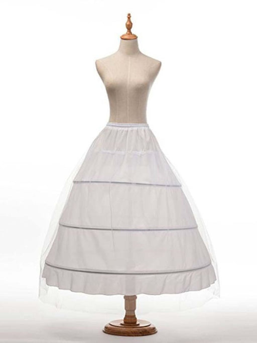 3 Hoops Underskirt Ball Gown Underskirt Wedding Petticoats - white - wedding petticoats