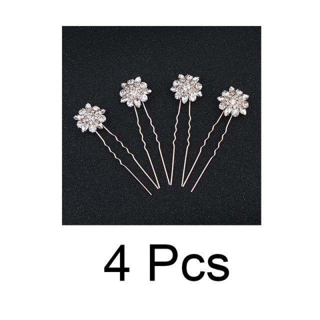 4 8 12 pcs/lot Fashion Sunflower Hairpins | Bridelily - 4pcs Rose Gold - hairpins
