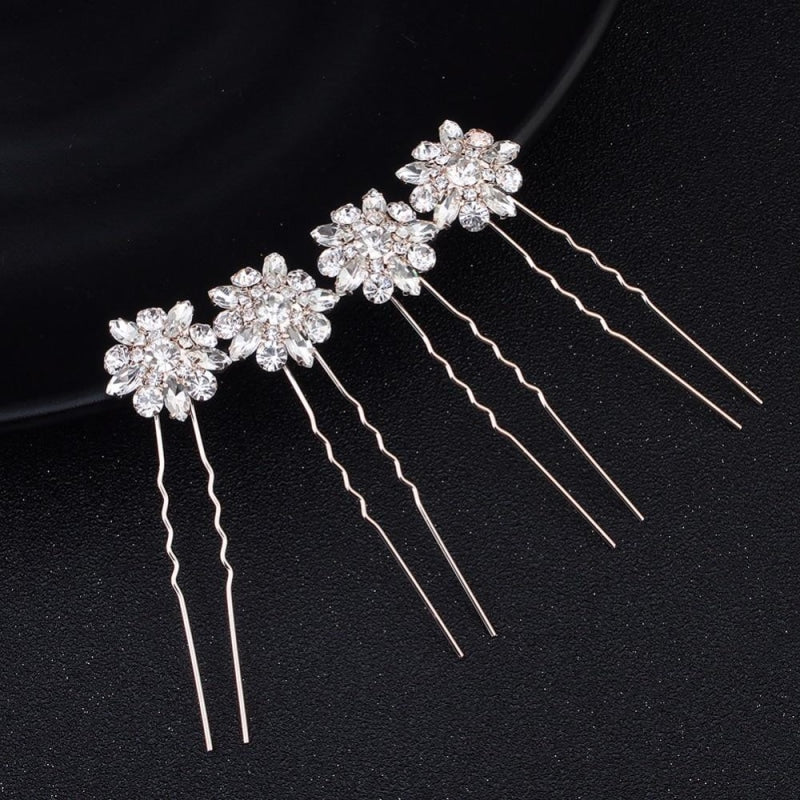 4 8 12 pcs/lot Fashion Sunflower Hairpins | Bridelily - hairpins