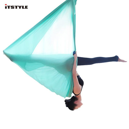 5 meters Aerial Yoga Hammock Elasticity Swing Multifunction Anti-gravity Yoga training belts - yoga belts