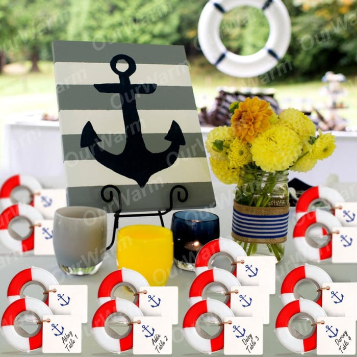 50Pcs Lifesaver Nautical Souvenirs Bottle Favors | Bridelily - bottle favors