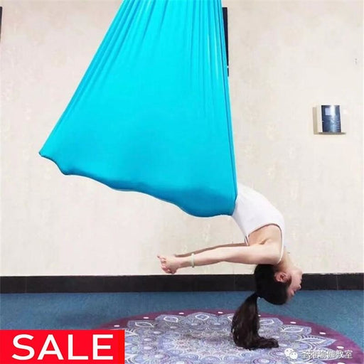 5Meter Aerial Yoga Hammock Elasticity Swing Multifunction Anti-gravity yoga training Belts - yoga belts