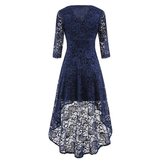 A| Bridelily Burgundy Half Sleeve Women Street Lace Dress - lace dresses