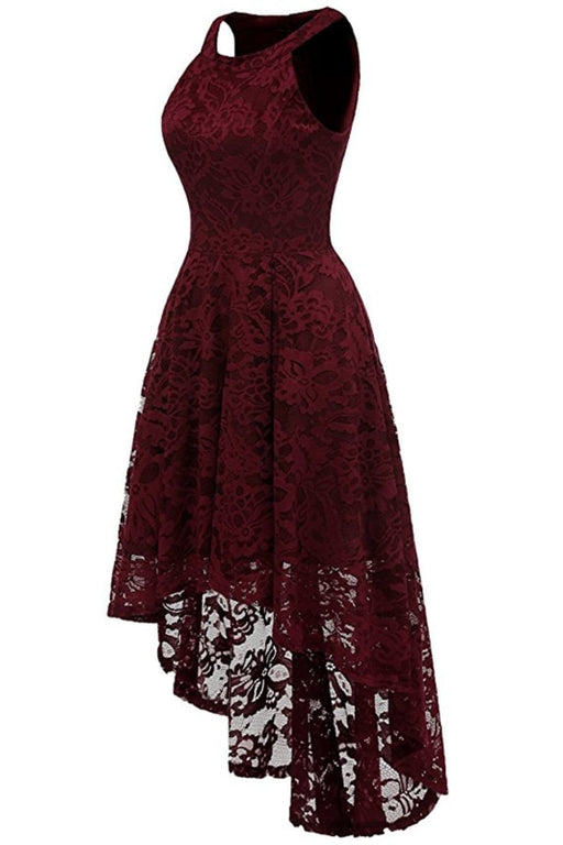 A| Bridelily Casual 1950s High Low Lace Dresses - lace dresses