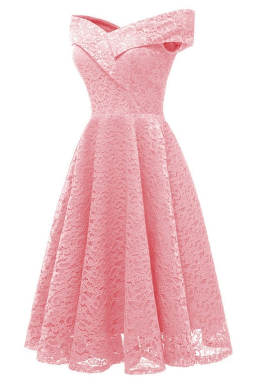 A| Bridelily Cute Lace Dress Wedding Party Formal Dress - lace dresses