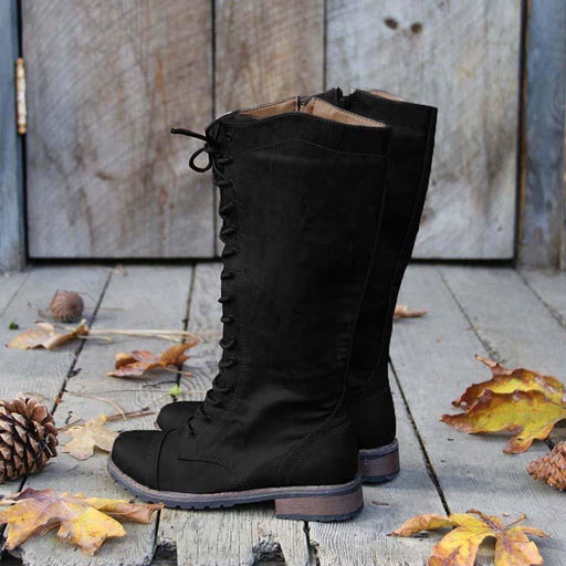 A| BrideLily Womens Artificial Leather Lace-up Casual Boots - Boots