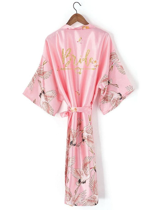 A| Personalized Bride Bridesmaid Robes Glitter Print Robes - robes