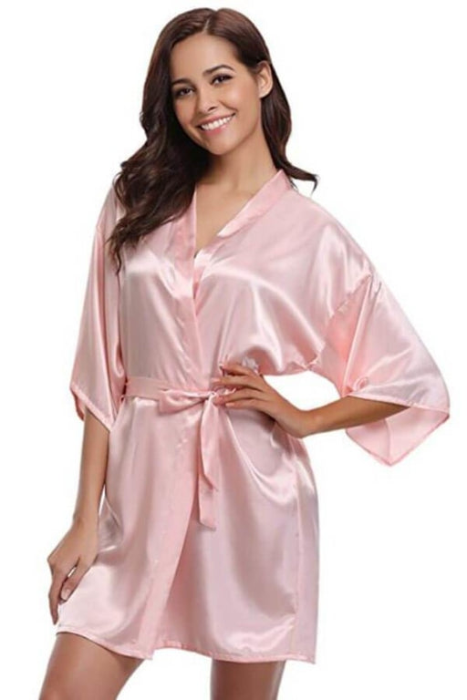 A| Silk Women Bridesmaid Robes Robes Ladies Dressing Gowns - robes