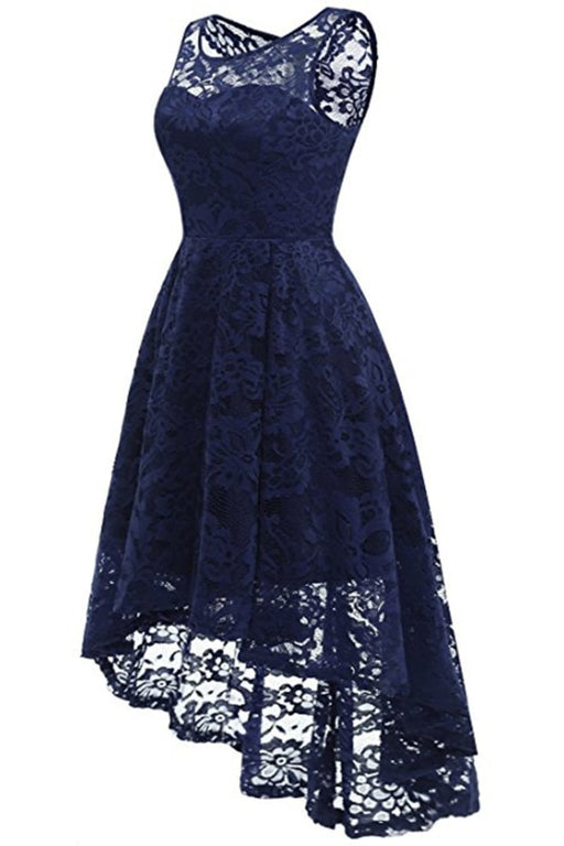 AA| Bridelily Women Floral Lace Bridesmaid Party Dress Short Prom Dress V Neck - lace dresses