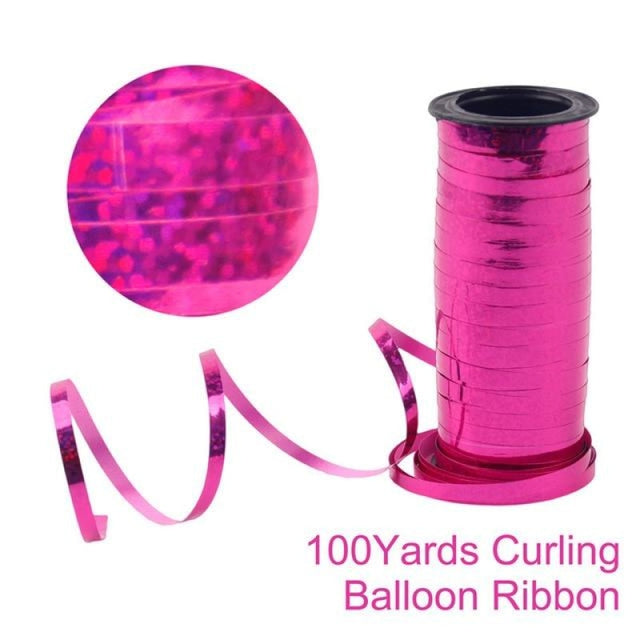 Air Balls Floating Desk Wedding Decorations | Bridelily - Rose Pink Ribbon 100 - wedding decorations