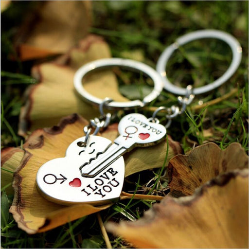Alloy Heart Key Zinc Keychain Favors | Bridelily - keychain favors