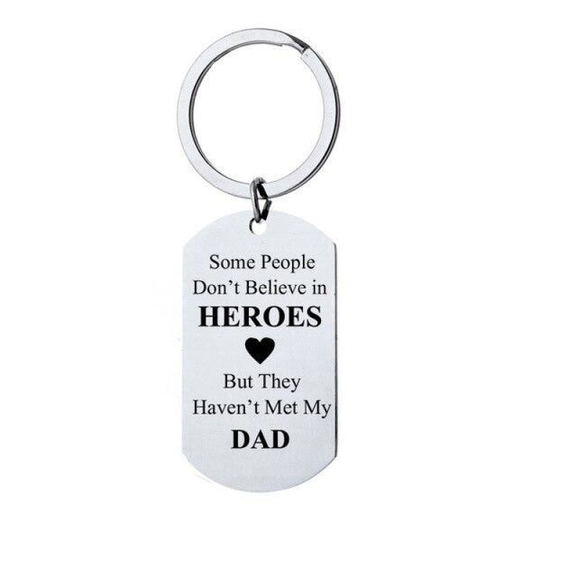 Alloy Letter Fathers Day Present Keychain Favors | Bridelily - A - keychain favors