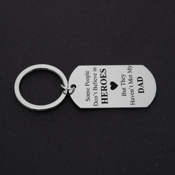 Alloy Letter Fathers Day Present Keychain Favors | Bridelily - keychain favors