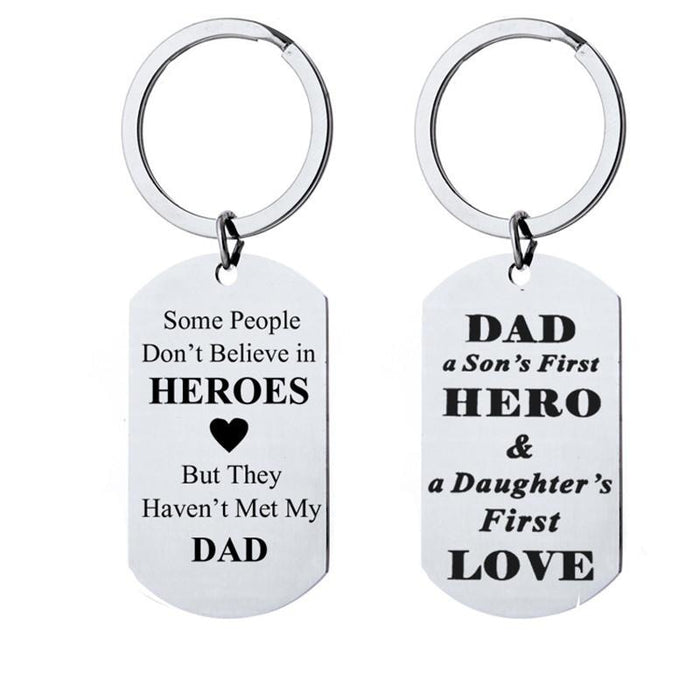 Alloy Letter Fathers Day Present Keychain Favors | Bridelily - B - keychain favors