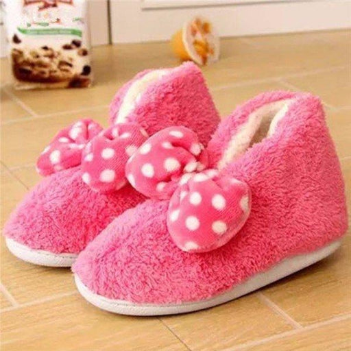 Ankle Butterflyknot Slip On Cute Candy Color Flat Home Shoes - home shoes