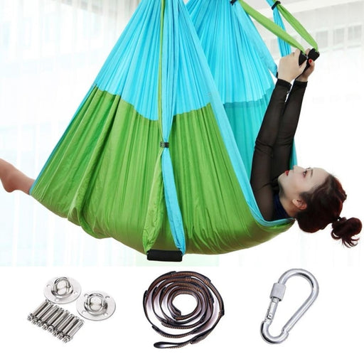 Anti-Gravity Yoga Hammock Flying Swing Aerial Traction Device Yoga Hammock Set Home Gym Hanging Belt - yoga belts