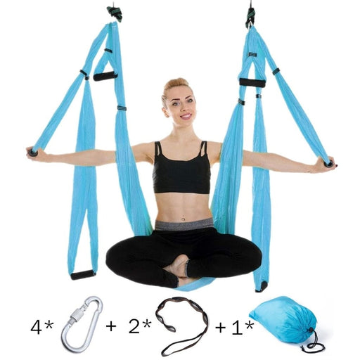 Anti-gravity Yoga Hammock Set Multifunction Yoga Belt Flying Yoga Inversion Tool with Carry Bag - yoga belts