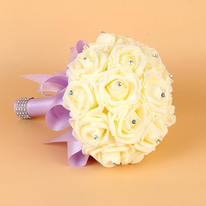 Artificial Flower Crystals Wedding Bouquets | Bridelily - wedding flowers