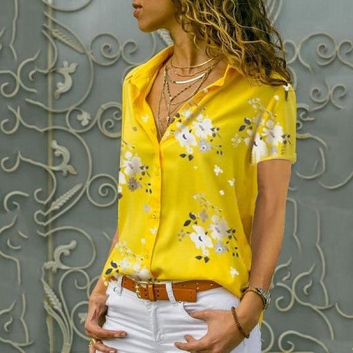 Autumn Elegant Women Tops Blouses - Short Yellow / S - blouses