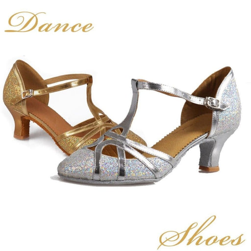 Ballroom Buckle Soft Sole Latin Dance Shoes | Bridelily - jazz dance shoes