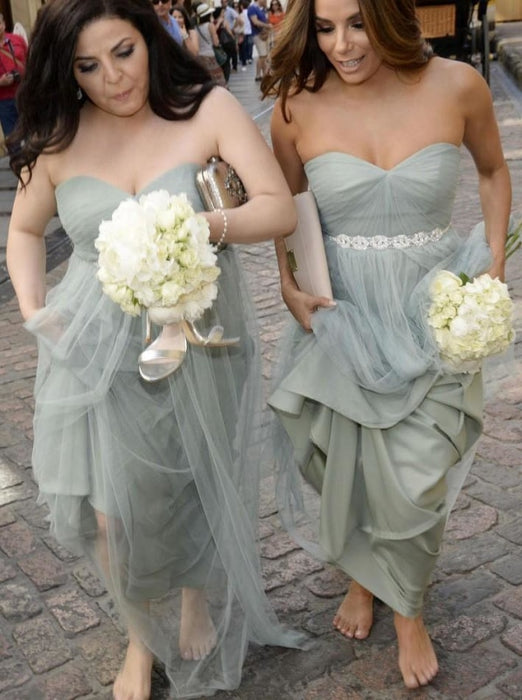 Beautiful Strapless Long Tulle Bridesmaid Dress - Bridesmaid Dresses