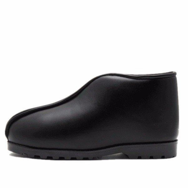 Big Size Waterproof Pu Leather Slip On Ankle High Top Flat Floor Home Indoor Shoes - Black / US 5 - home shoes