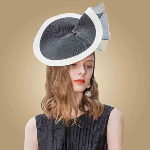 Black White s Church Straw Vintage Tea Party Hats | Bridelily - Black White Fedora - tea party hats