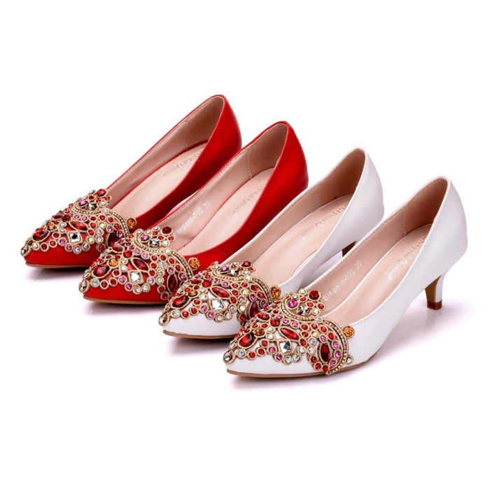 Bling Rhinestones Handmade Wedding Pumps | Bridelily - wedding pumps